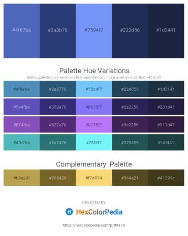 Palette image download - Steel Blue – Dark Slate Blue – Cornflower Blue – Midnight Blue – Gray
