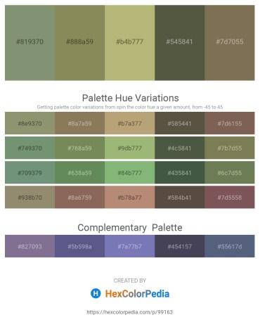 Palette image download - Dark Sea Green – Dark Khaki – Dark Khaki – Dark Olive Green – Dim Gray