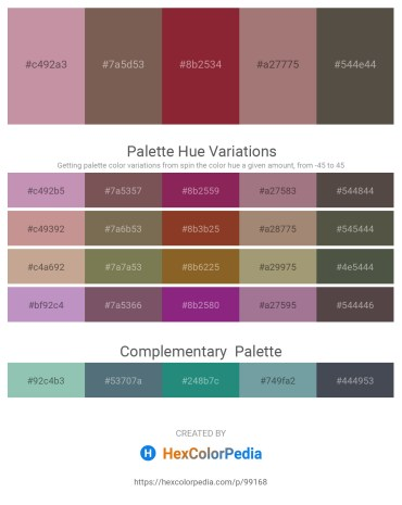 Palette image download - Rosy Brown – Dim Gray – Brown – Rosy Brown – Dim Gray