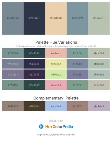 Palette image download - Light Slate Gray – Dark Slate Gray – Pale Goldenrod – Light Slate Gray – Dark Sea Green
