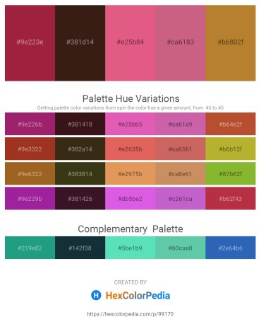 Palette image download - Brown – Peru – Pale Violet Red – Indian Red – Peru