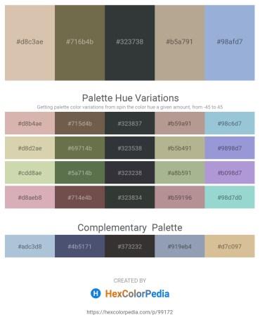 Palette image download - Tan – Dark Olive Green – Dark Slate Gray – Rosy Brown – Light Steel Blue