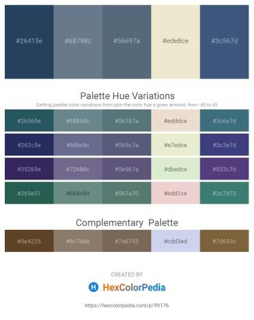 Palette image download - Dark Slate Gray – Slate Gray – Slate Gray – Beige – Dark Slate Blue