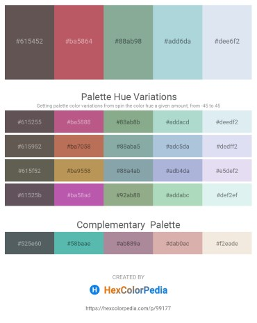 Palette image download - Dim Gray – Indian Red – Dark Sea Green – Light Steel Blue – Powder Blue