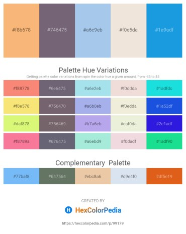 Palette image download - Sandy Brown – Slate Gray – Light Blue – Beige – Dark Sea Green