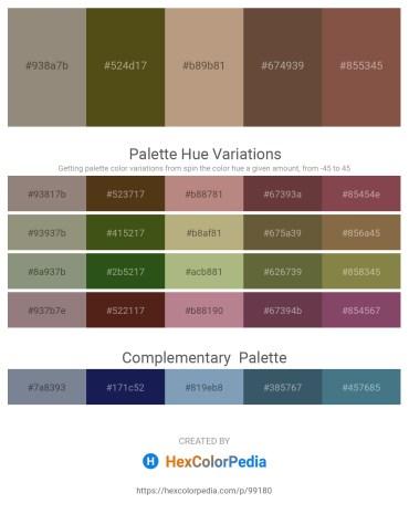 Palette image download - Gray – Dark Olive Green – Rosy Brown – Gray – Sienna