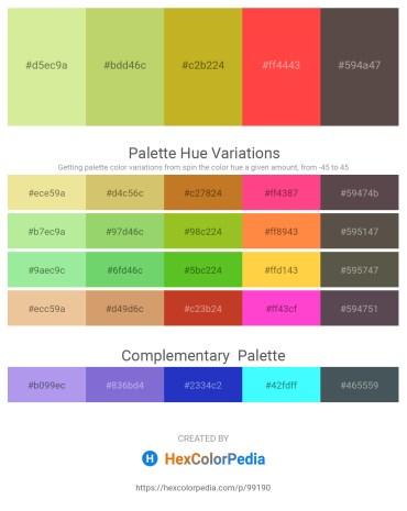Palette image download - Pale Goldenrod – Thistle – Goldenrod – Tomato – Dim Gray