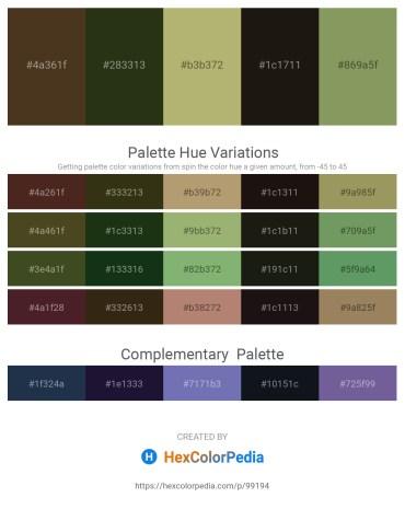 Palette image download - Dark Slate Blue – Dark Olive Green – Dark Khaki – Black – Dark Khaki