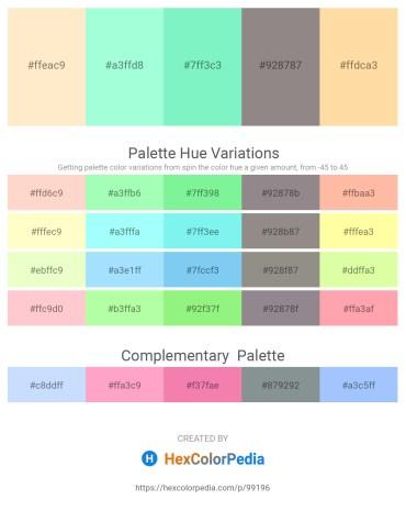 Palette image download - Blanched Almond – Aquamarine – Aquamarine – Gray – Navajo White