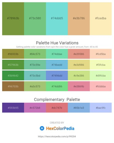 Palette image download - Dark Olive Green – Medium Aquamarine – Sky Blue – Burlywood – Moccasin