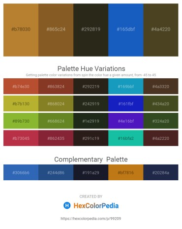 Palette image download - Peru – Sienna – Black – Royal Blue – Dark Olive Green