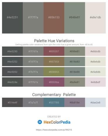 Palette image download - Dark Slate Gray – Gray – Dim Gray – Dark Sea Green – Gainsboro