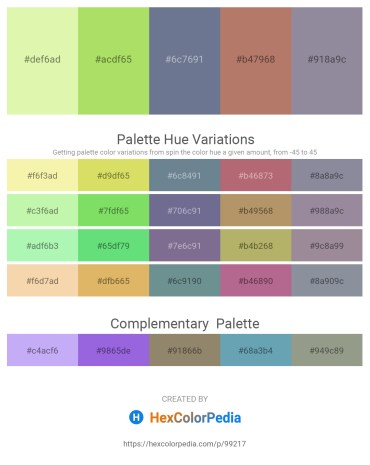 Palette image download - Wheat – Yellow Green – Slate Gray – Rosy Brown – Light Slate Gray
