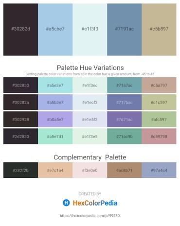 Palette image download - Black – Light Blue – Powder Blue – Cadet Blue – Tan