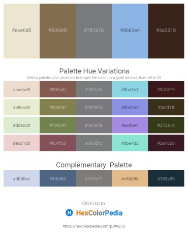 Palette image download - Beige – Dark Olive Green – Slate Gray – Sky Blue – Black