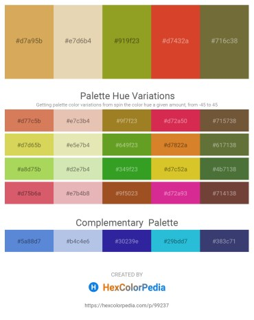 Palette image download - Peru – Pale Goldenrod – Olive Drab – Chocolate – Dark Olive Green