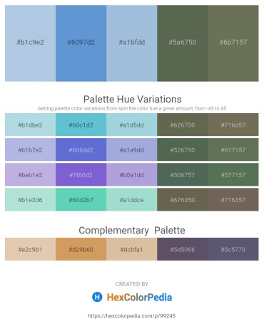 Palette image download - Light Steel Blue – Sandy Brown – Light Steel Blue – Dark Olive Green – Dim Gray