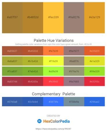 Palette image download - Medium Slate Blue – Peru – Sandy Brown – Gray – Goldenrod