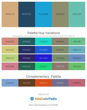 Palette image download - Tan – Dark Slate Gray – Yellow – Gray – Medium Aquamarine