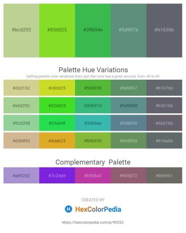 Palette image download - Tan – Yellow Green – Medium Sea Green – Cadet Blue – Slate Gray