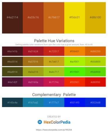 Palette image download - Saddle Brown – Saddle Brown – Chocolate – Gold – Orange