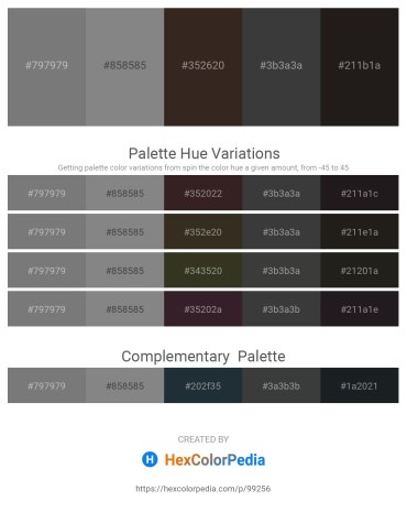 Palette image download - Gray – Gray – Light Gray – Dim Gray – Black
