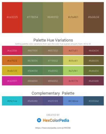 Palette image download - Firebrick – Dark Olive Green – Dark Olive Green – Peru – Dark Goldenrod