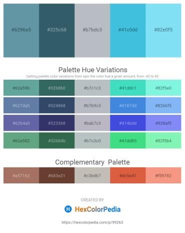 Palette image download - Cadet Blue – Dark Slate Gray – Light Steel Blue – Turquoise – Light Sky Blue