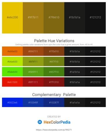 Palette image download - Gold – Dark Goldenrod – Saddle Brown – Black – Black