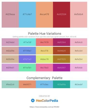 Palette image download - Rosy Brown – Sky Blue – Dark Salmon – Brown – Dark Salmon
