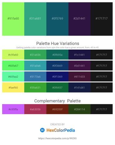 Palette image download - Green Yellow – Medium Sea Green – Tan – Midnight Blue – Black