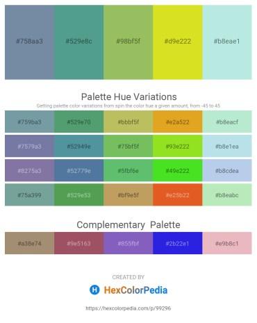 Palette image download - Light Slate Gray – Cadet Blue – Dark Khaki – Dim Gray – Powder Blue