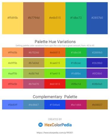 Palette image download - Gold – Indian Red – Goldenrod – Light Sea Green – Royal Blue