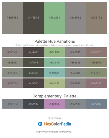 Palette image download - Gray – Dim Gray – Dark Sea Green – Gray – Gray