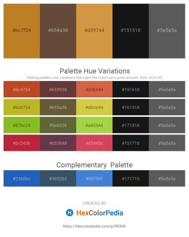 Palette image download - Chocolate – Dim Gray – Peru – Dark Slate Gray – Dim Gray