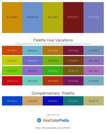 Palette image download - Dark Goldenrod – Slate Blue – Dark Goldenrod – Saddle Brown – Steel Blue