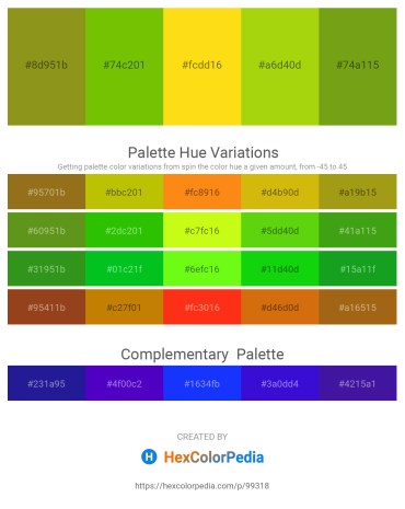 Palette image download - Olive Drab – Lawn Green – Gold – Lawn Green – Olive Drab