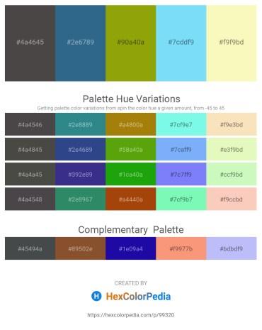Palette image download - Dim Gray – Steel Blue – Slate Gray – Light Sky Blue – Light Goldenrod Yellow