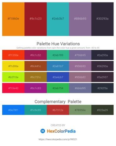 Palette image download - Dark Orange – Firebrick – Light Sea Green – Slate Gray – Olive Drab