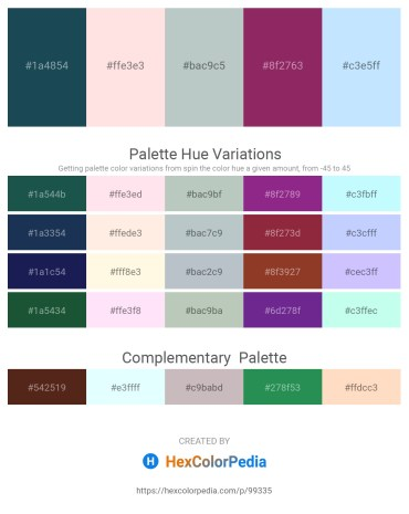 Palette image download - Midnight Blue – Misty Rose – Dark Sea Green – Light Sea Green – Light Cyan