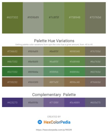 Palette image download - Dark Olive Green – Dark Sea Green – Dark Sea Green – Dark Olive Green – Dim Gray