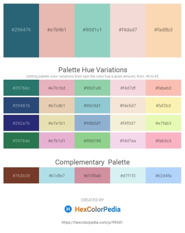 Palette image download - Dark Slate Gray – Burlywood – Medium Aquamarine – Linen – Wheat