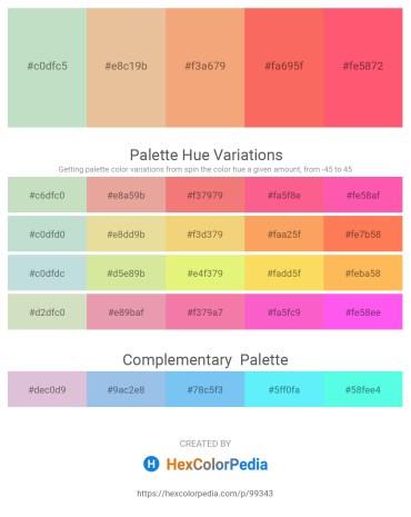 Palette image download - Powder Blue – Burlywood – Sandy Brown – Salmon – Tomato