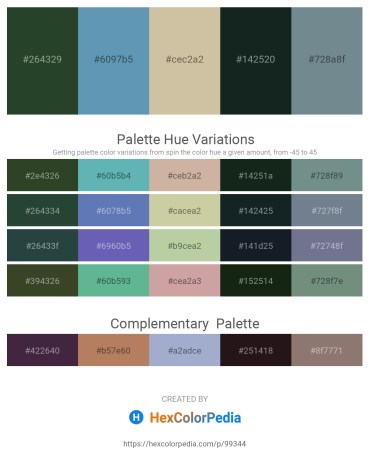 Palette image download - Dark Slate Gray – Steel Blue – Tan – Dark Slate Gray – Slate Gray