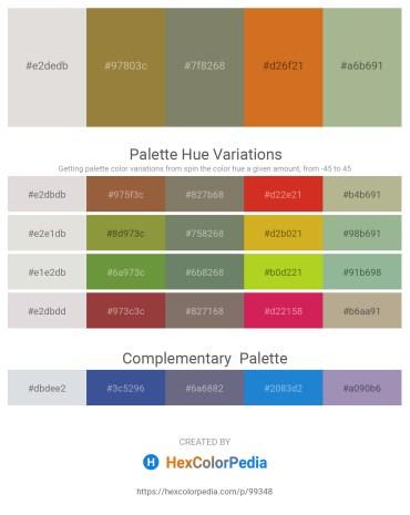 Palette image download - Gainsboro – Light Steel Blue – Gray – Chocolate – Dark Sea Green
