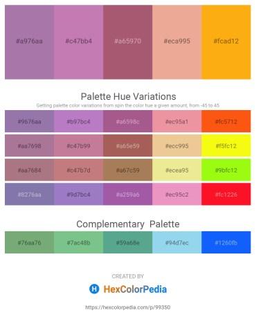 Palette image download - Rosy Brown – Rosy Brown – Rosy Brown – Dark Salmon – Orange