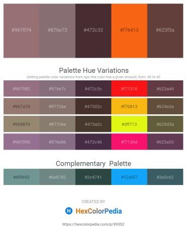 Palette image download - Gray – Gray – Dark Slate Blue – Orange Red – Cornflower Blue