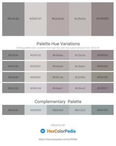 Palette image download - Gray – Light Gray – Dark Gray – Silver – Gray