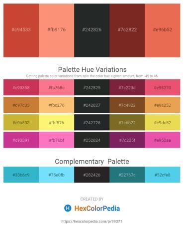 Palette image download - Brown – Salmon – Dark Slate Gray – Brown – Light Coral