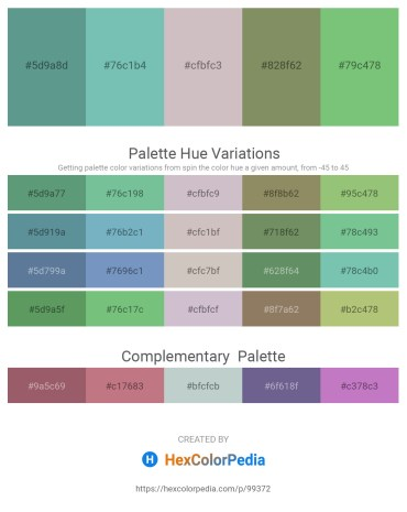 Palette image download - Cadet Blue – Medium Aquamarine – Silver – Dark Sea Green – Dark Sea Green